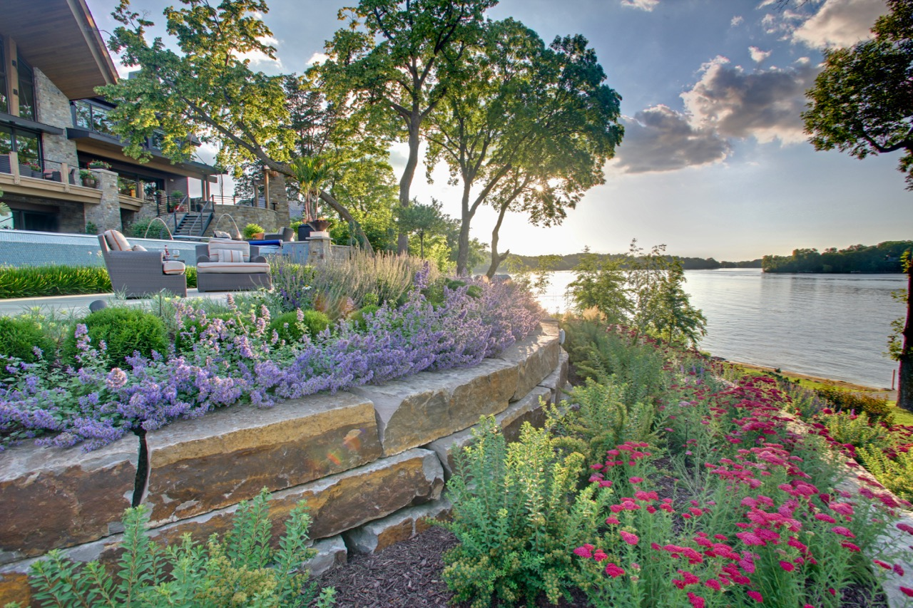 Mom's Design Build - Backyard Garden Landscape Lake Minnetonka