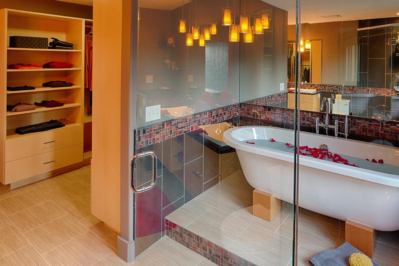 Moms Design Build - Bathroom Remodel Basement
