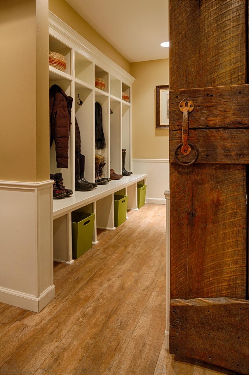 Mom's Design Build - Interior Mudroom Barn Door