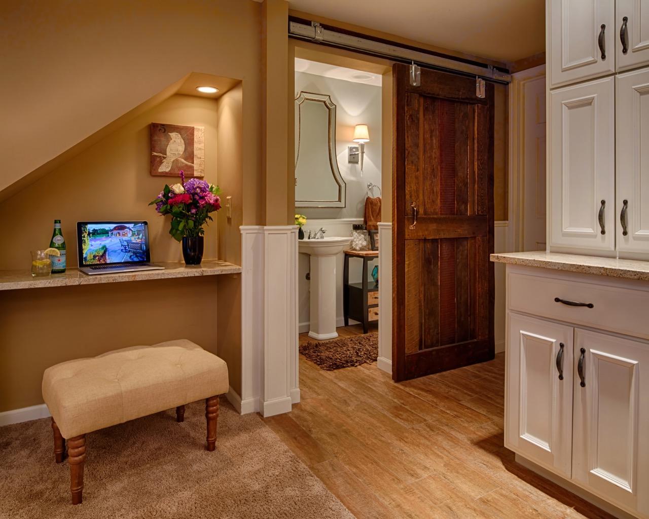 Mom's Design Build - Interior Barn Door Basement Remodel