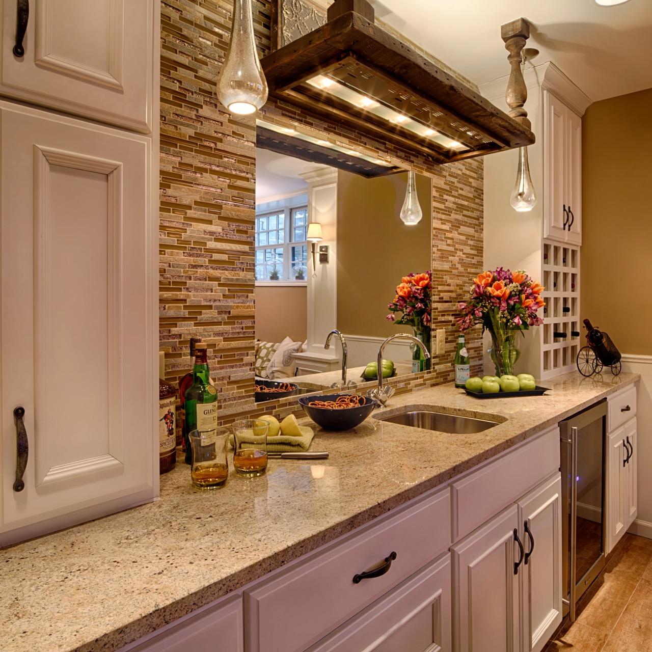 Mom's Design Build - Interior Basement Kitchen Sink Remodel