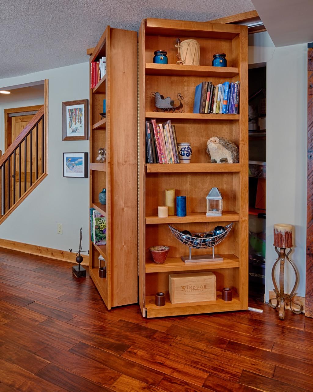 Mom's Design Build - Minnetonka Basement Remodel Hidden Storage