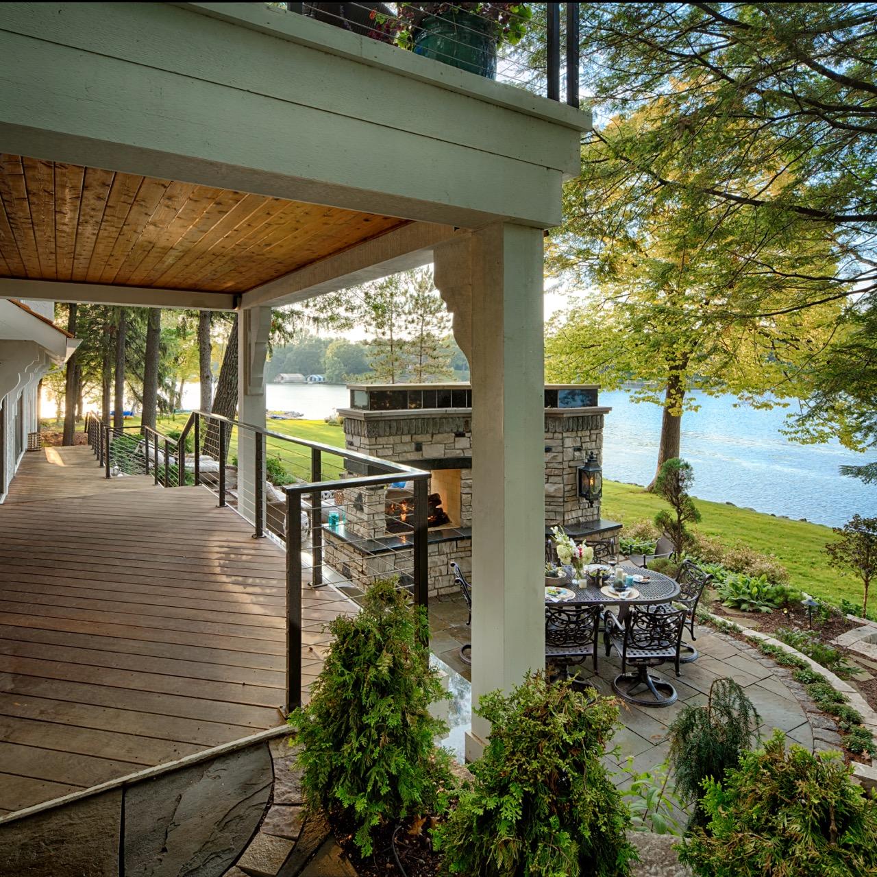 Mom's Design Build - Lake Minnetonka Outdoor Hardwood Deck