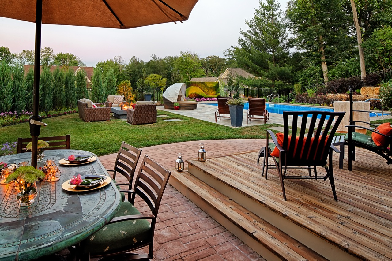 Moms Design Build - Backyard Pool Landscape Indoor Outdoor Living