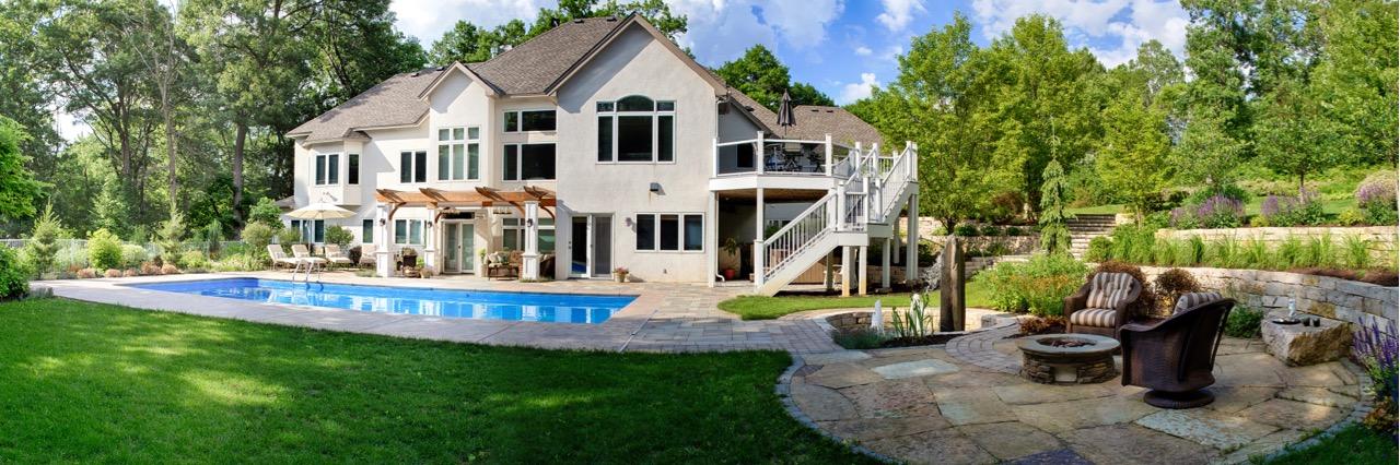 Mom's Design Build - Backyard Pool Concrete Surround Outdoor Furniture
