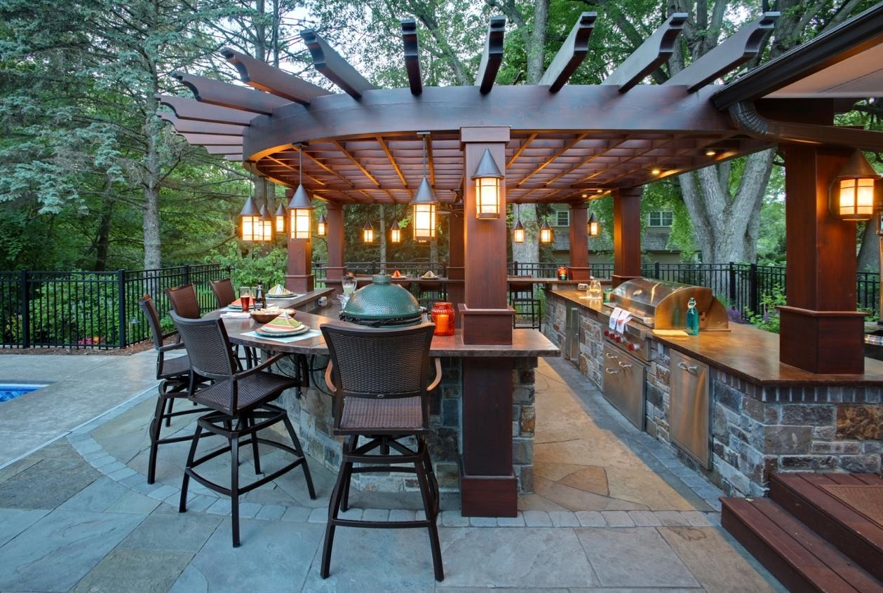 Mom's Design Build - Outdoor Kitchen Pergola