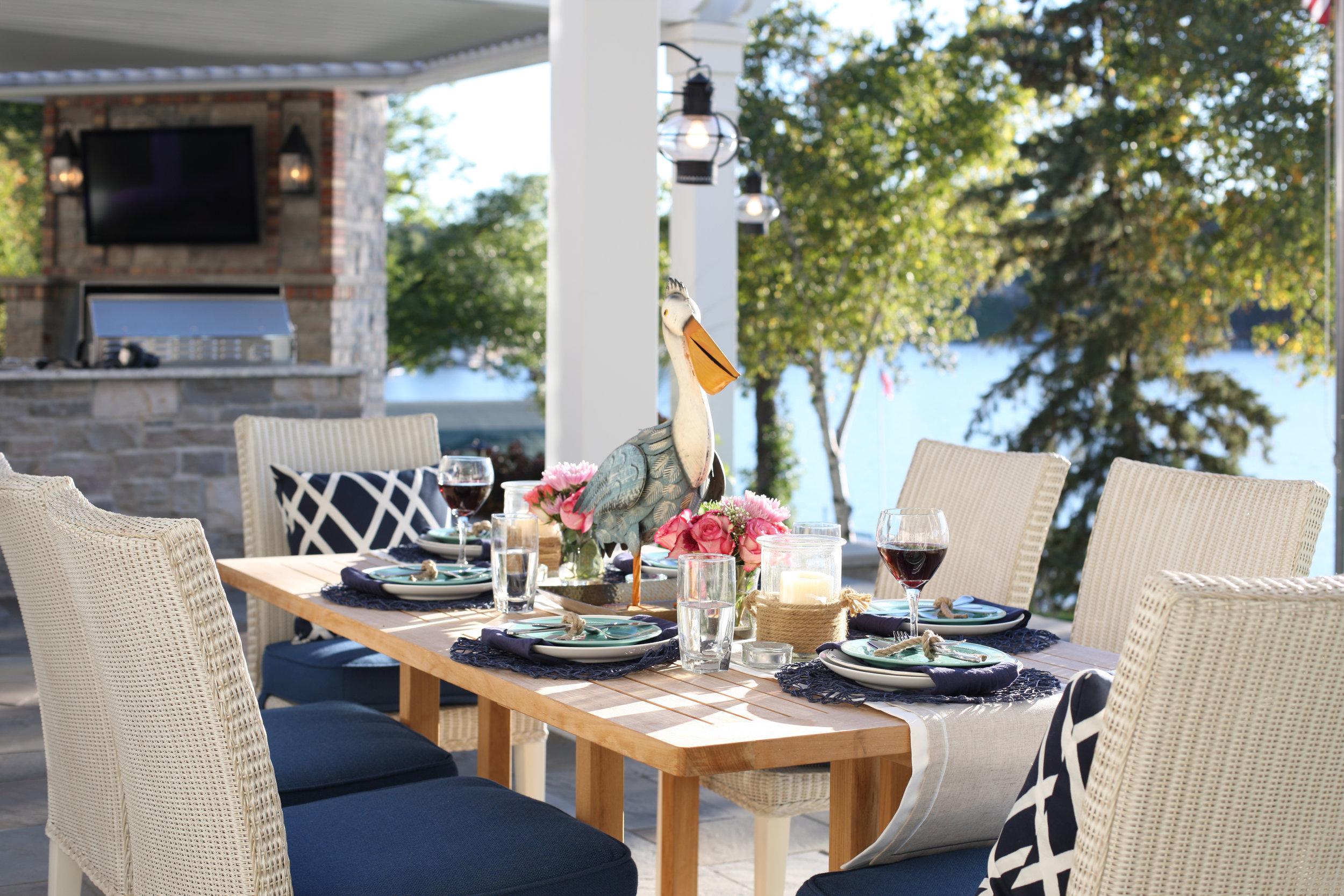 Mom's Design Build - Outdoor Dining Table Lake Minnetonka