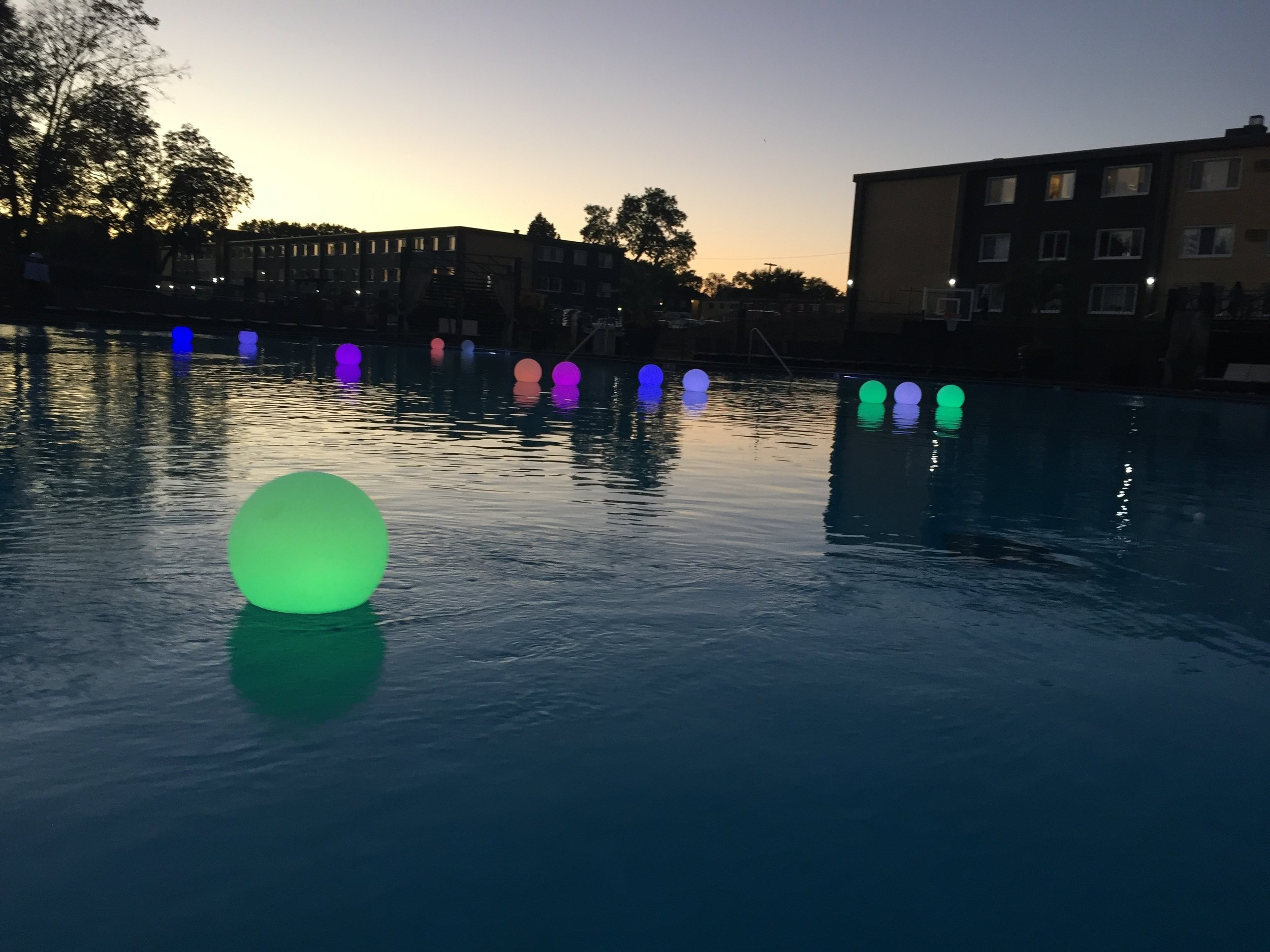 Moms Design Build - Pool Party Props Light Up Balls