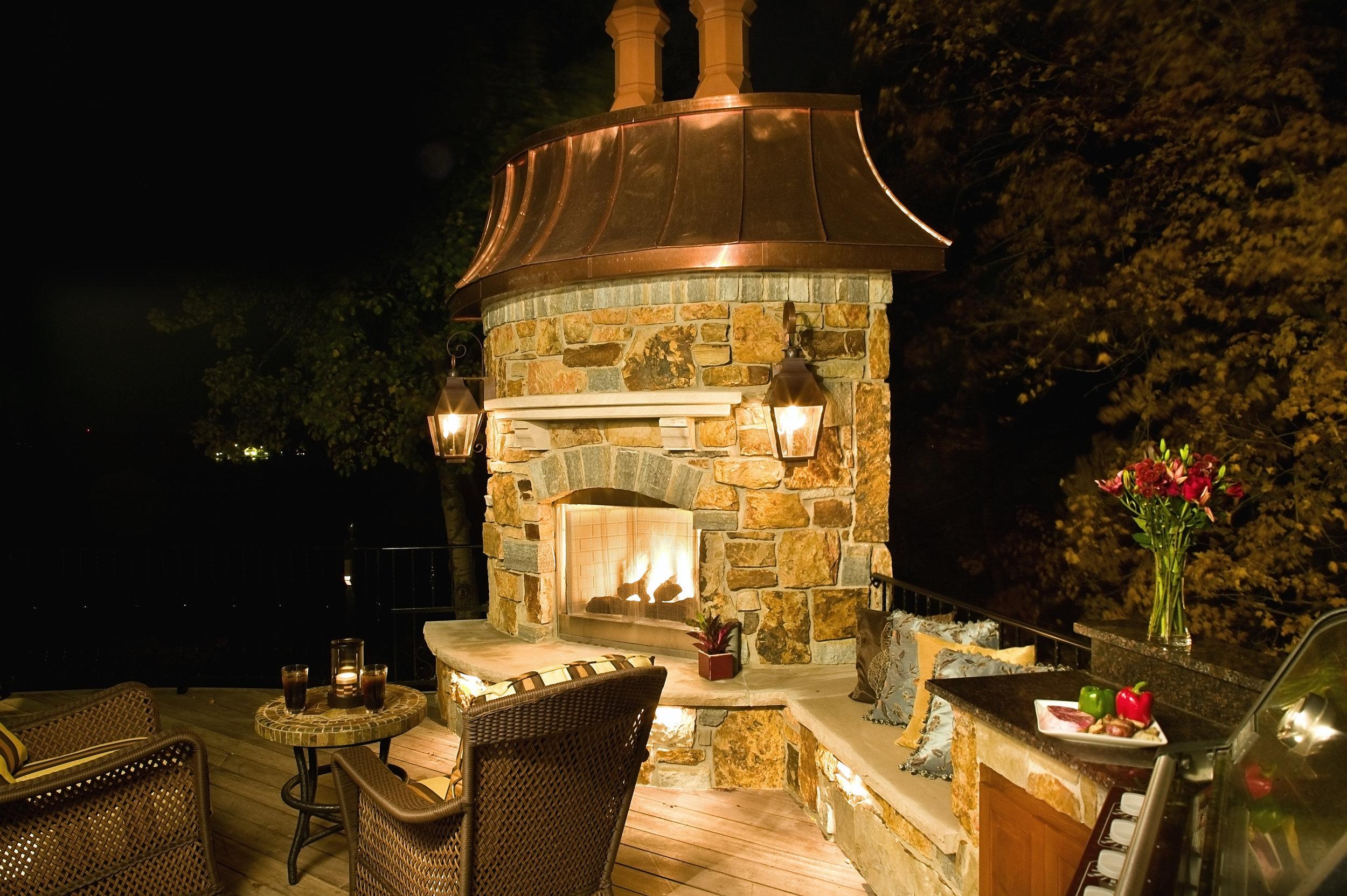 Moms Design Build - Deck Fire Place