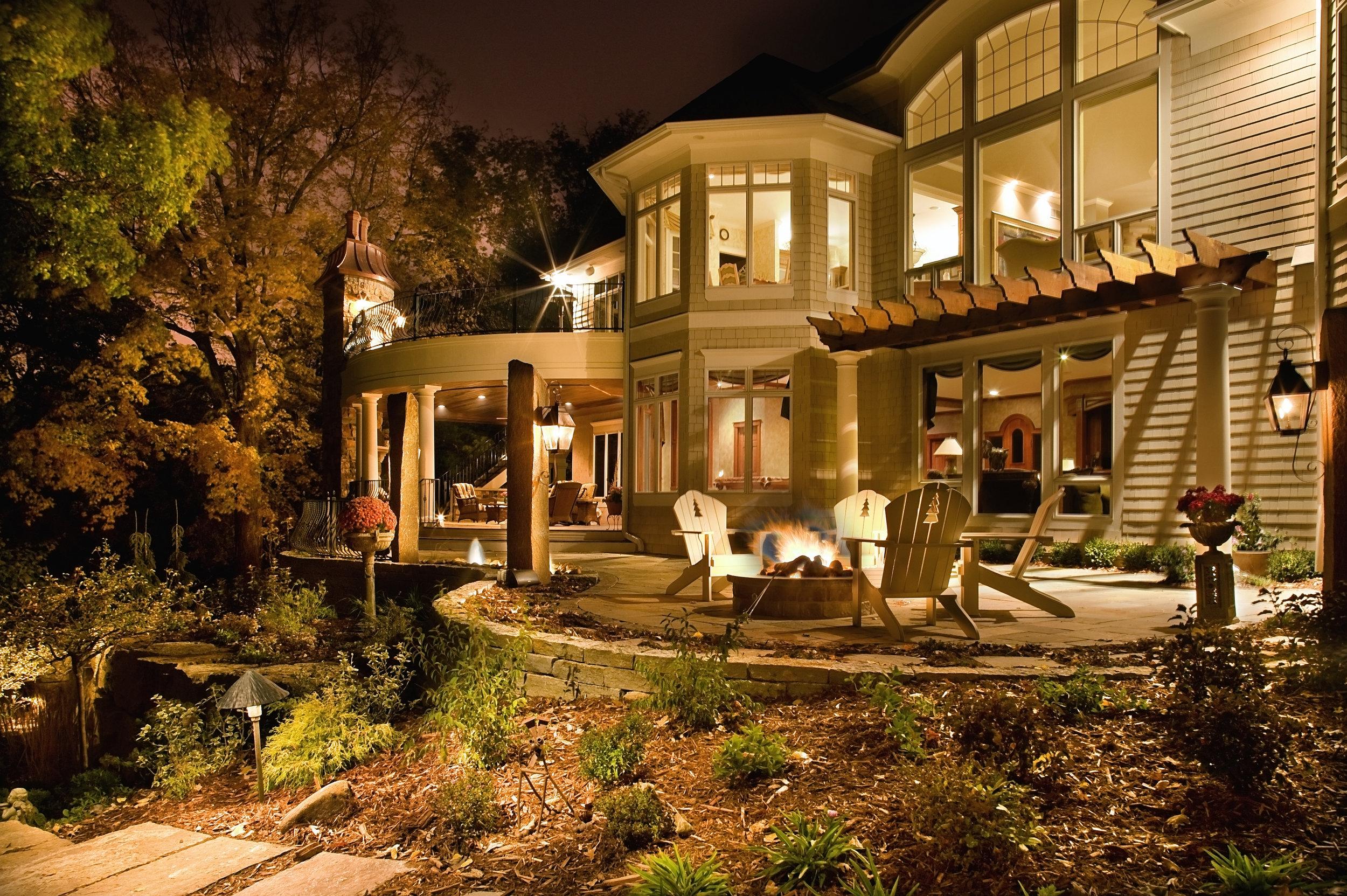 Moms Design Build - Backyard Fireplace Deck Remodel