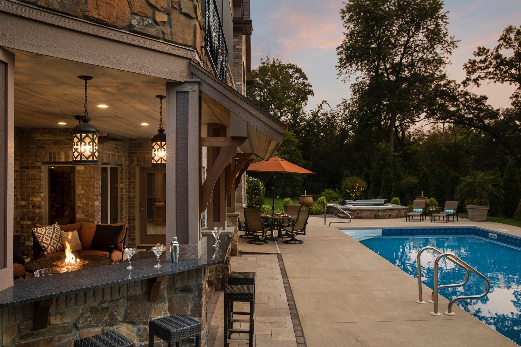 Moms Design Build - indoor Outdoor Living Pool Installation