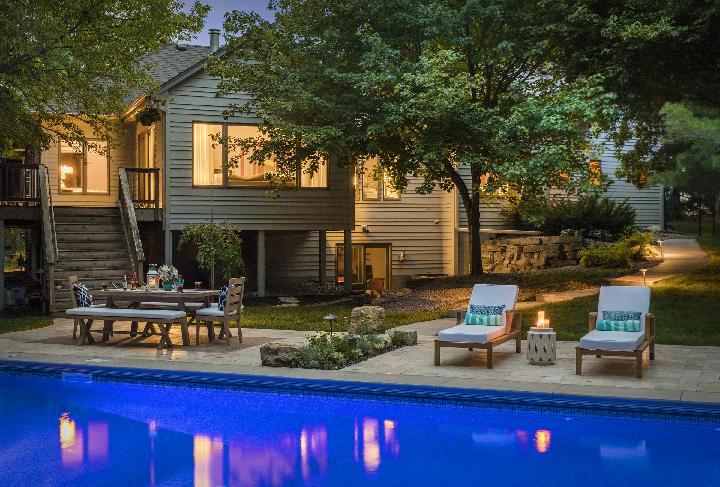 Mom's Design Build - Design Build Concrete Pool Surround Modern Poolside Furniture