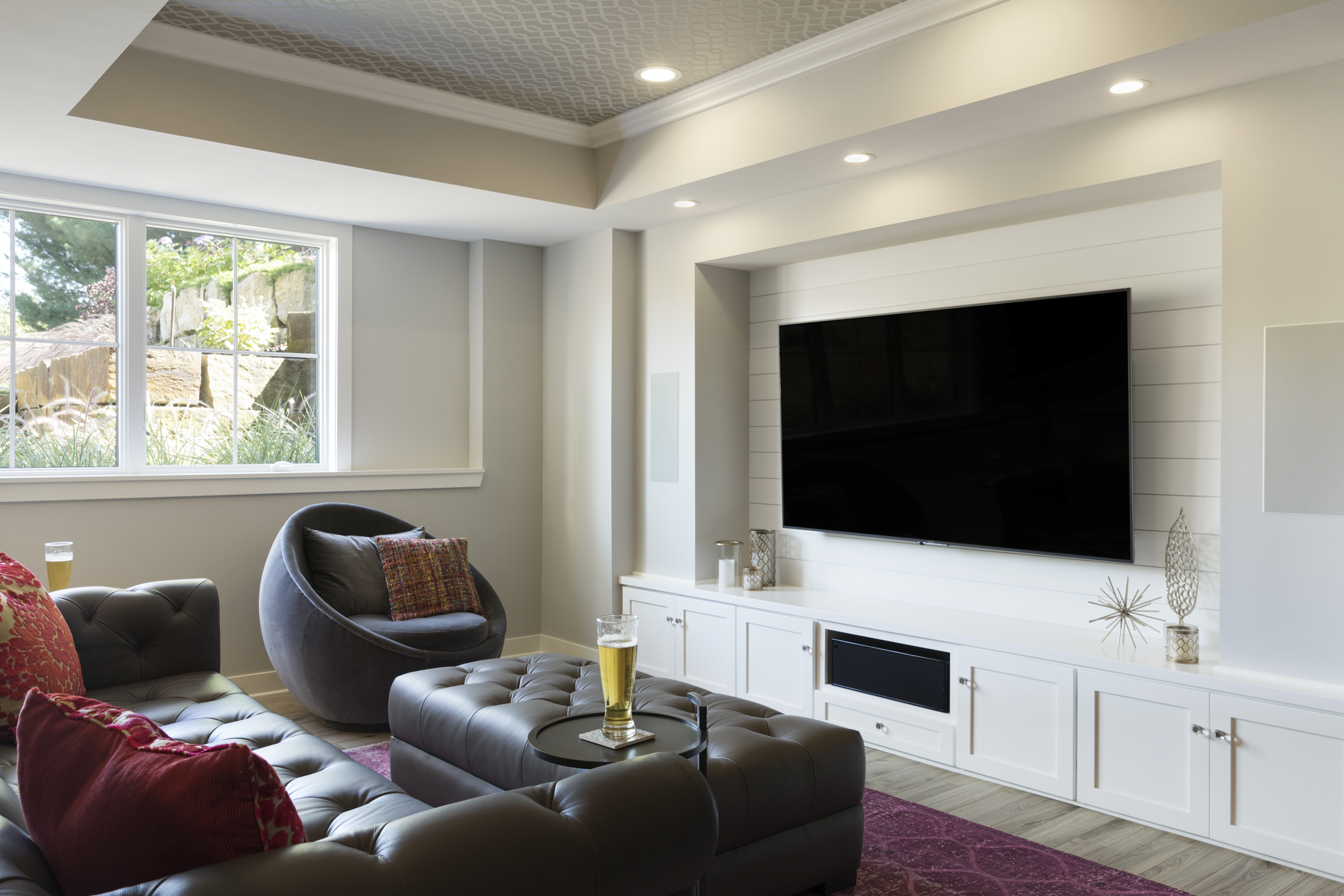 Moms Design Build - Basement Remodel Theatre Room