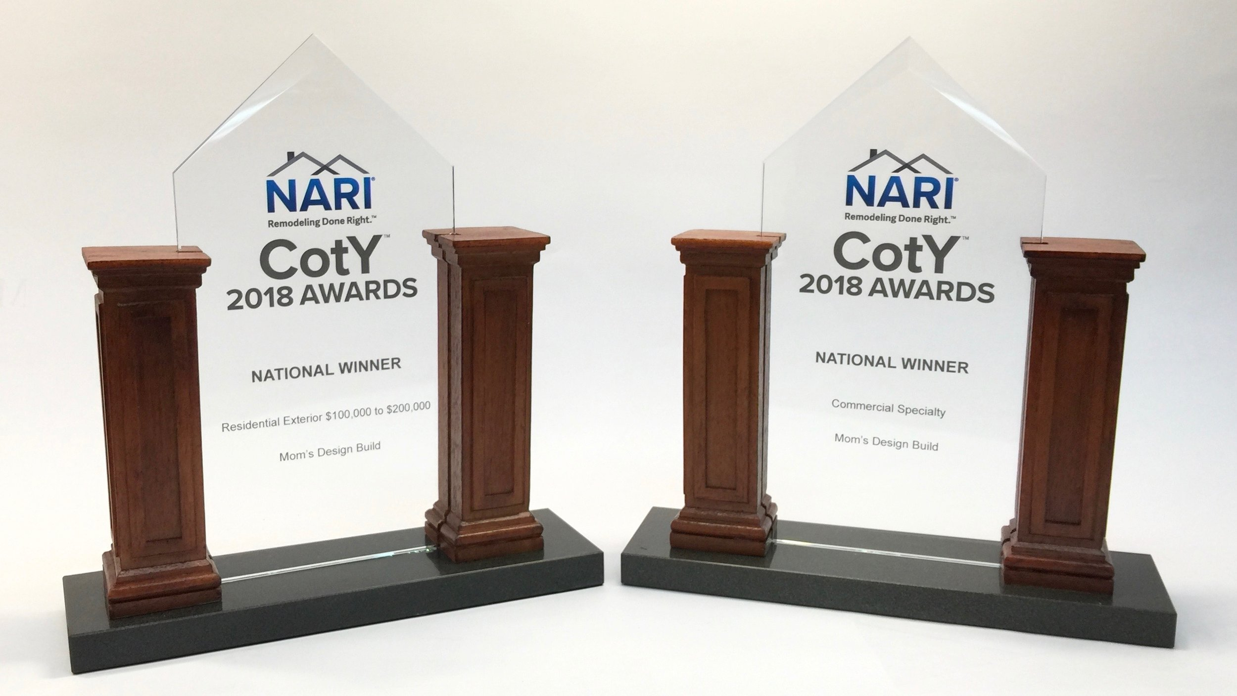 Mom's Design Build - Two National NARI CotY Awards