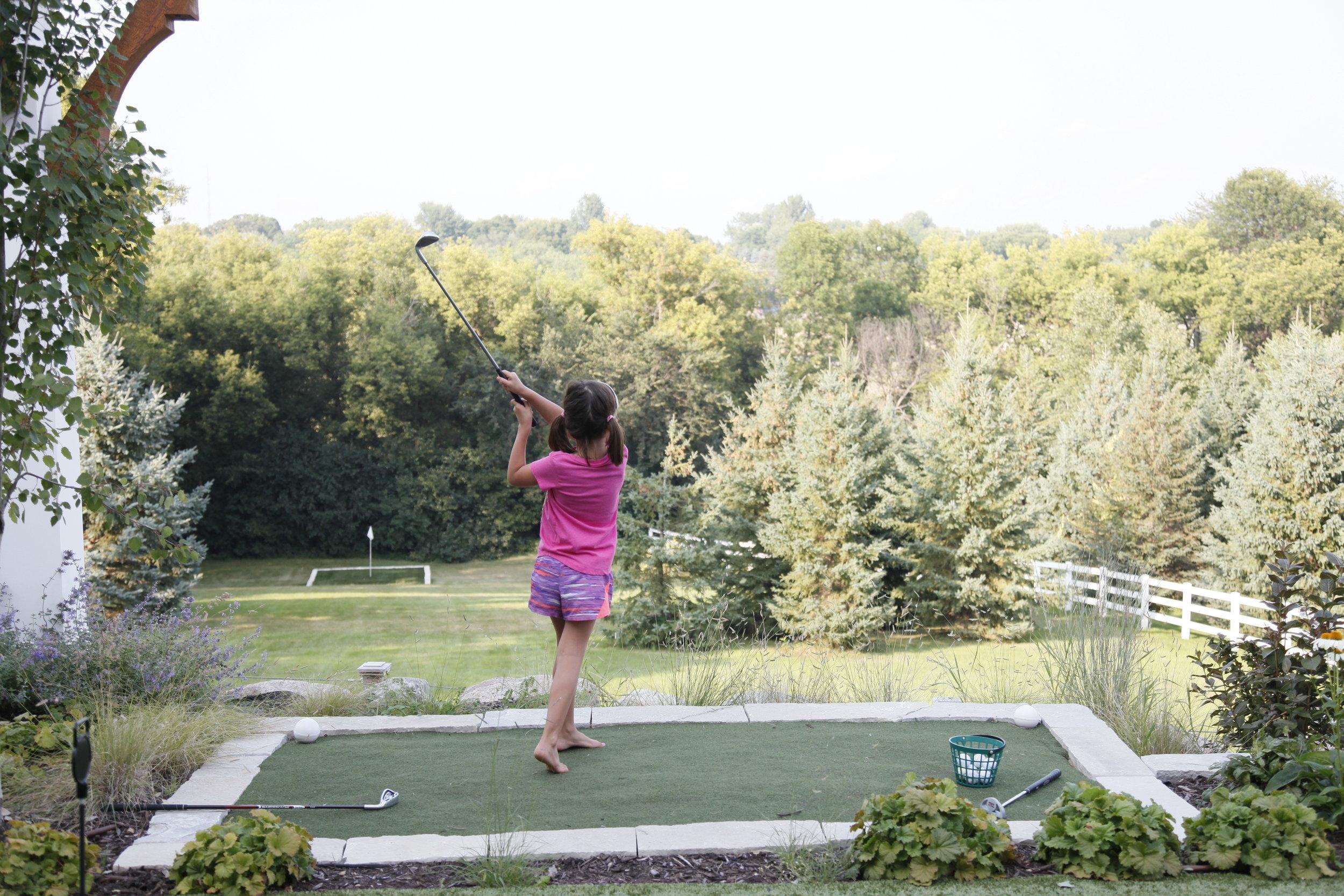 Mom's Design Build - Backyard Golf Driving Range