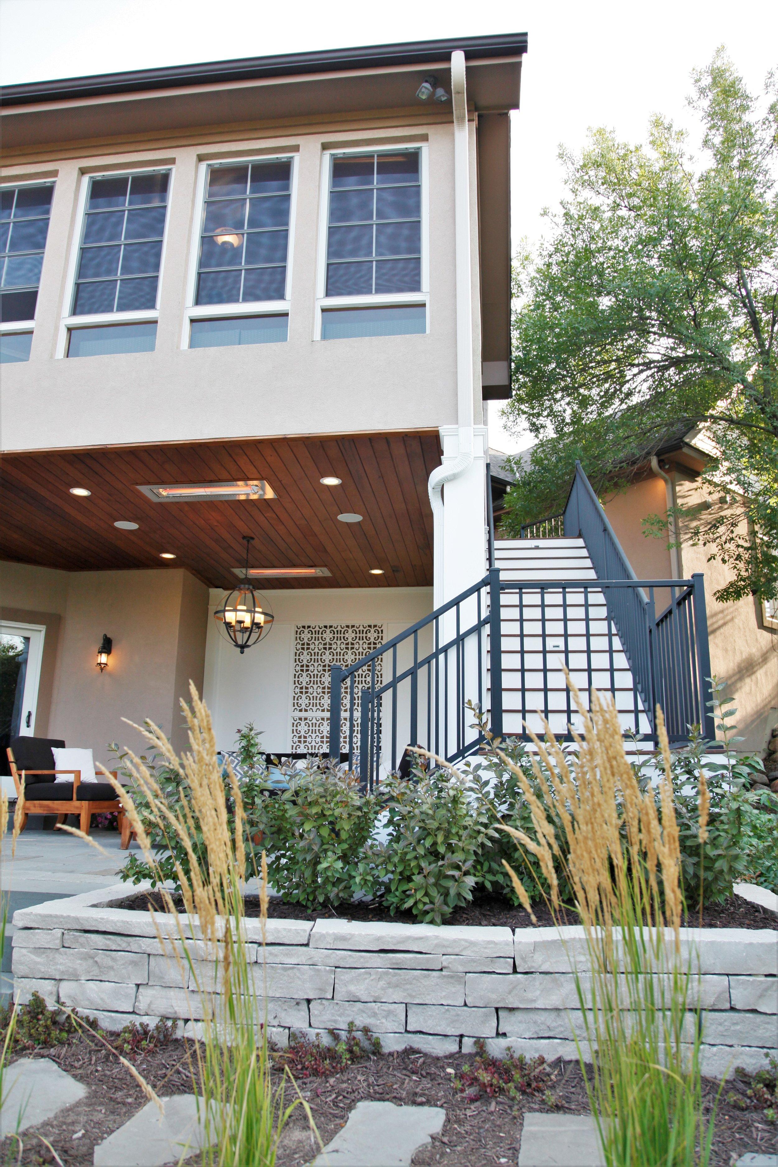 Mom's Design Build - Porch Outdoor Living Room Heaters