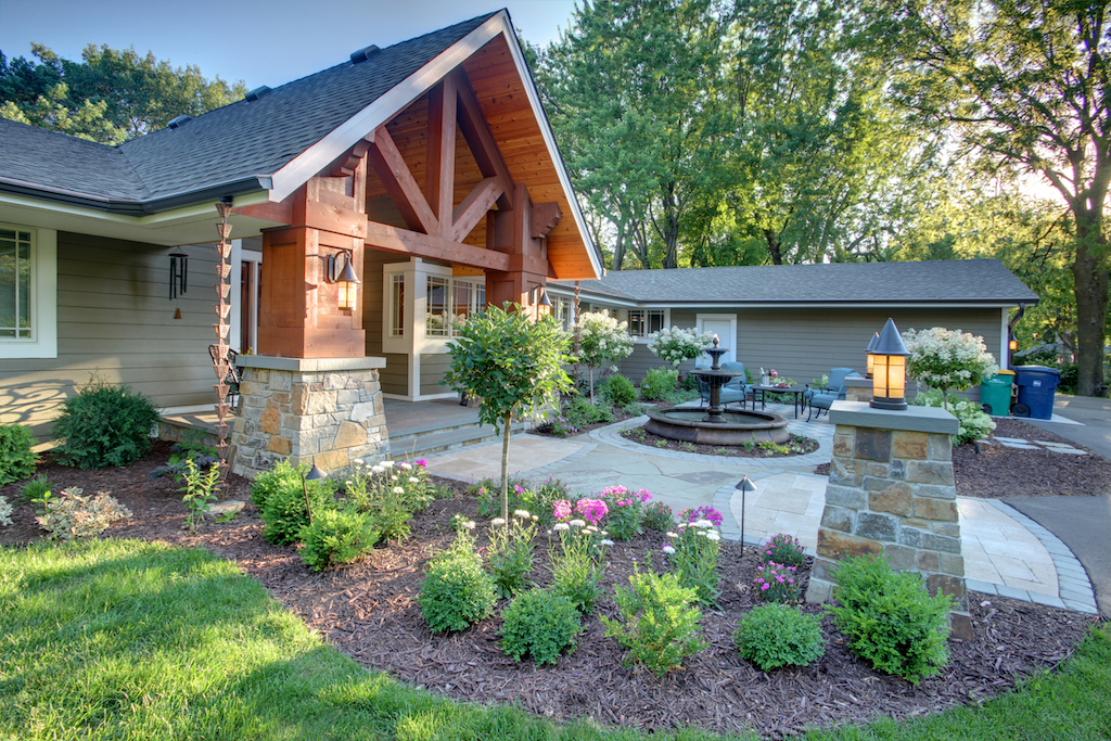 Mom's Design Build - Front Yard Walkway Garden Landscape