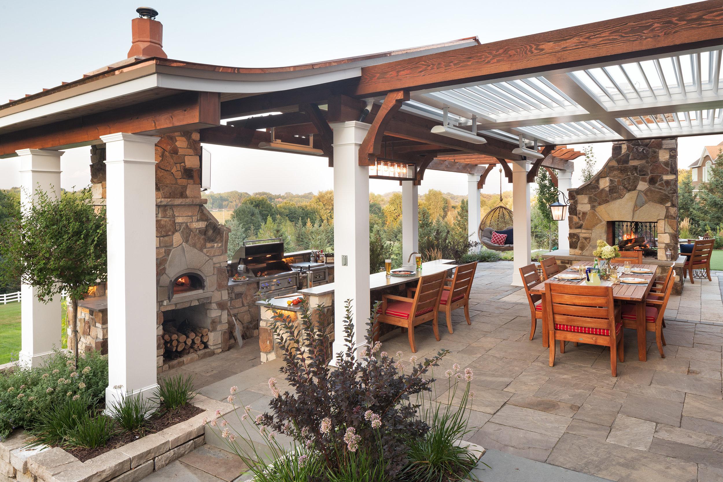 Mom's Design Build - Outdoor Kitchen Living Room