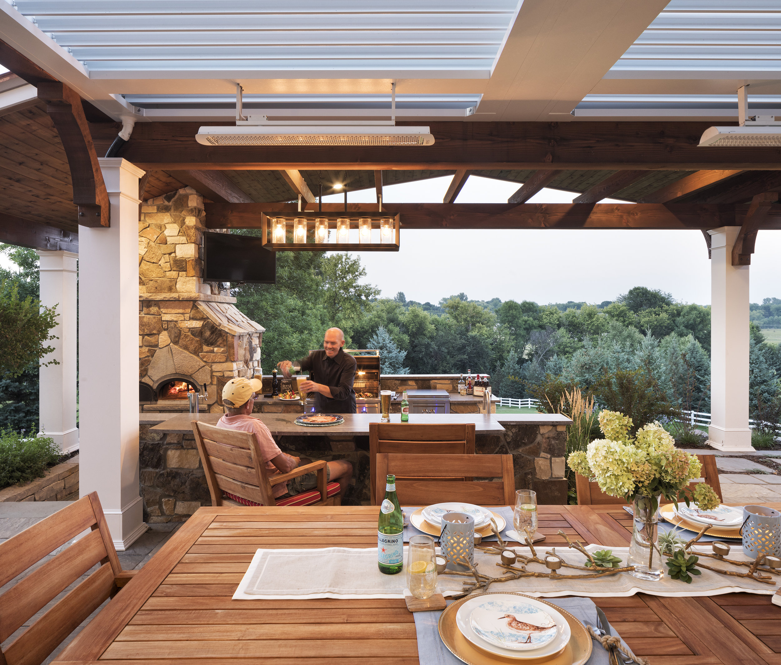 Mom's Design Build - Outdoor Kitchen Dining Table
