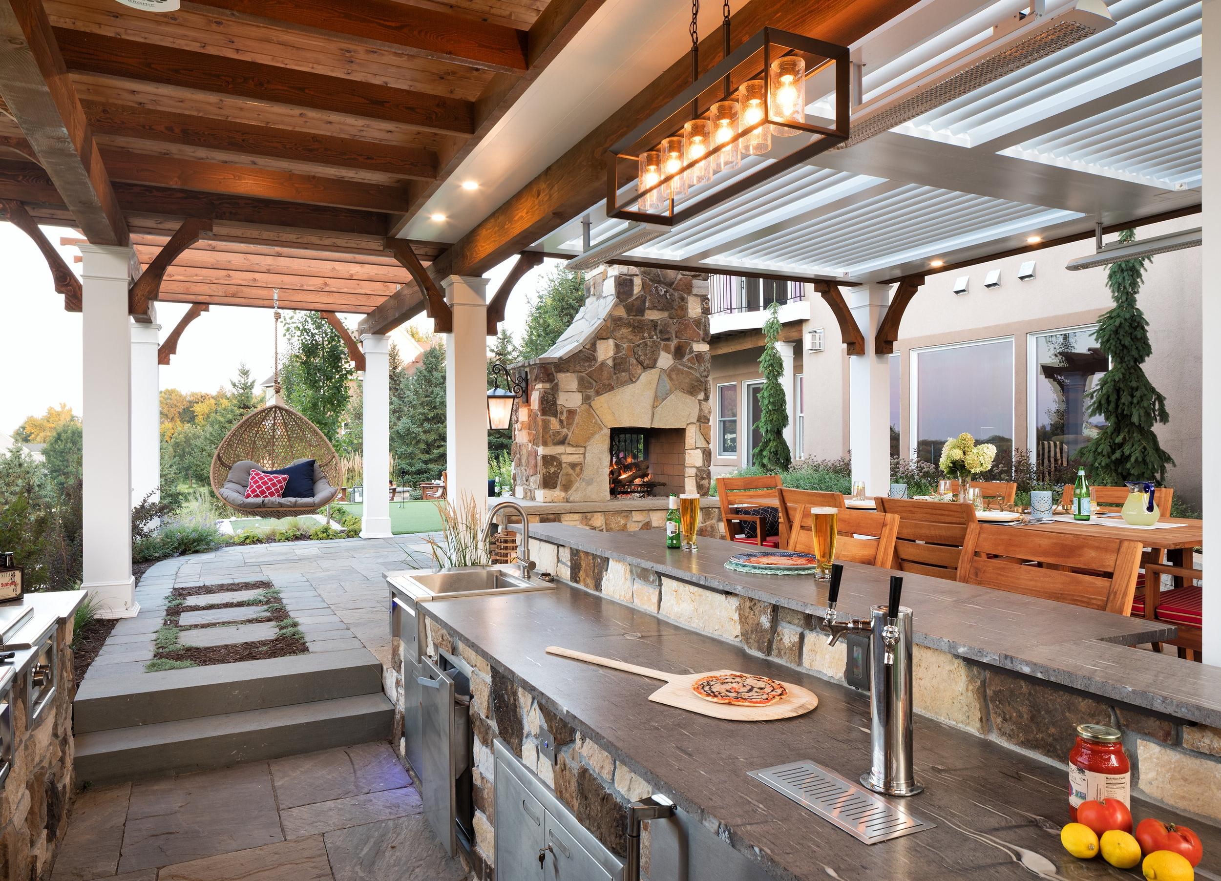 Mom's Design Build - Outdoor Kitchen Grill Fridge Sink