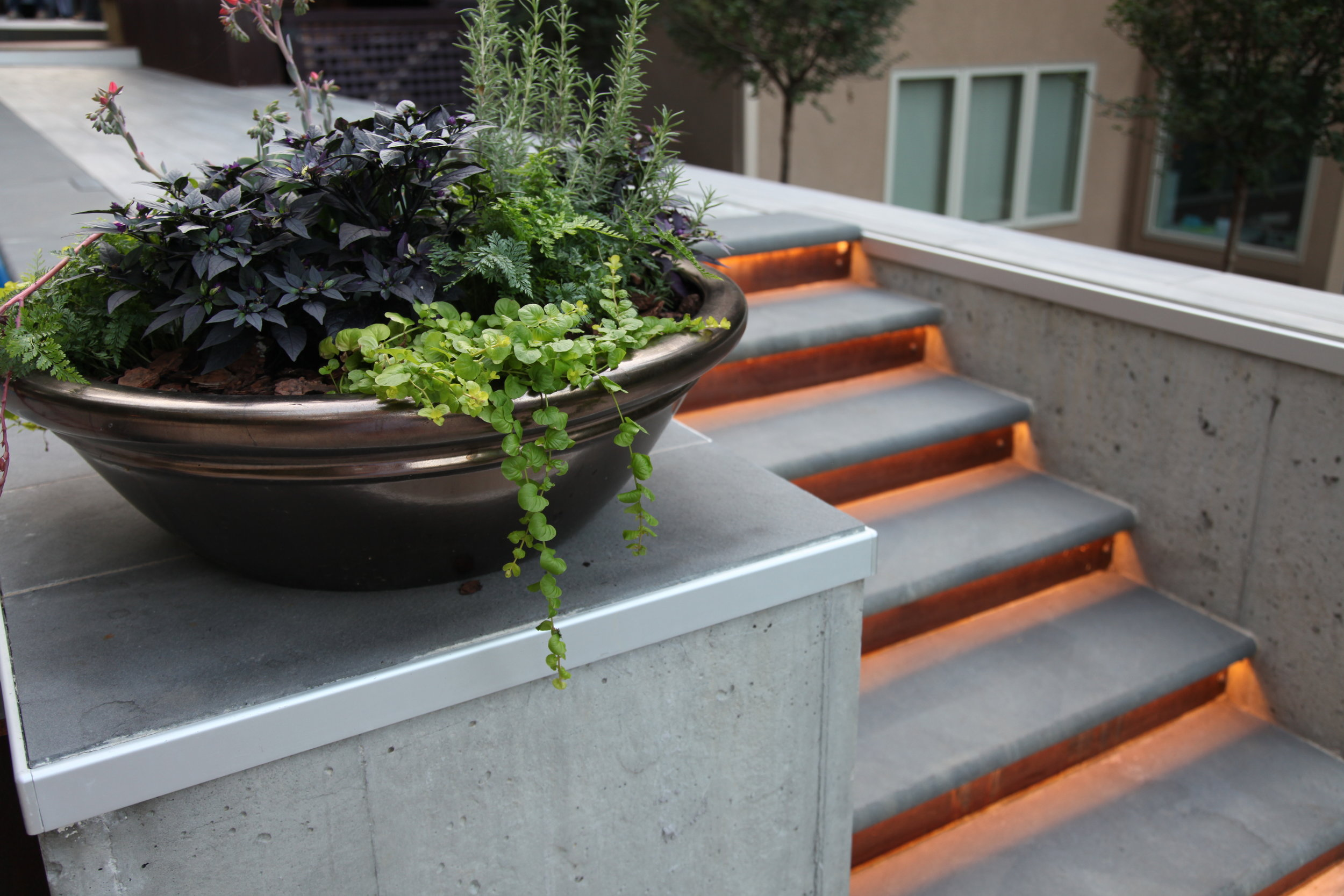 Moms Design Build - Custom Corten Steel Porcelain Tile