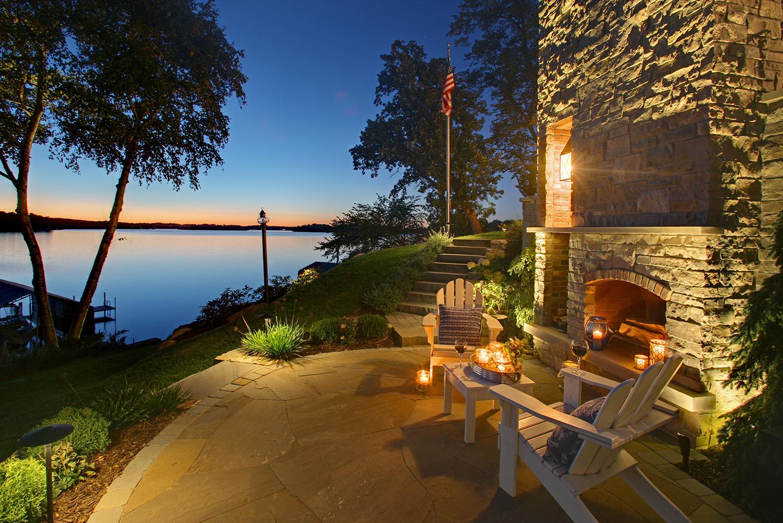 Mom's Design Build - Lake Minnetonka backyard patio fire landscape