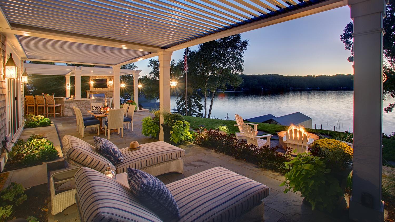 Mom's Design Build - Lake Minnetonka backyard landscape lighting