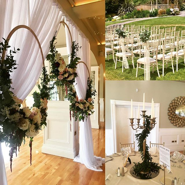 What a weekend, what a wedding! Congratulations to Candice and Mark who tied the knot in style in the beautiful surrounds of Fernhill House ❤️#floralhoops #flowerhoops #eucalyptus #outdoorwedding #westcork #sunshinewedding #weddingflowers