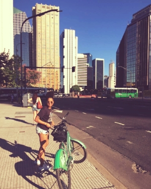 We took some bikes out for a spin around the city on Sunday. I'll call it my workout for the week.