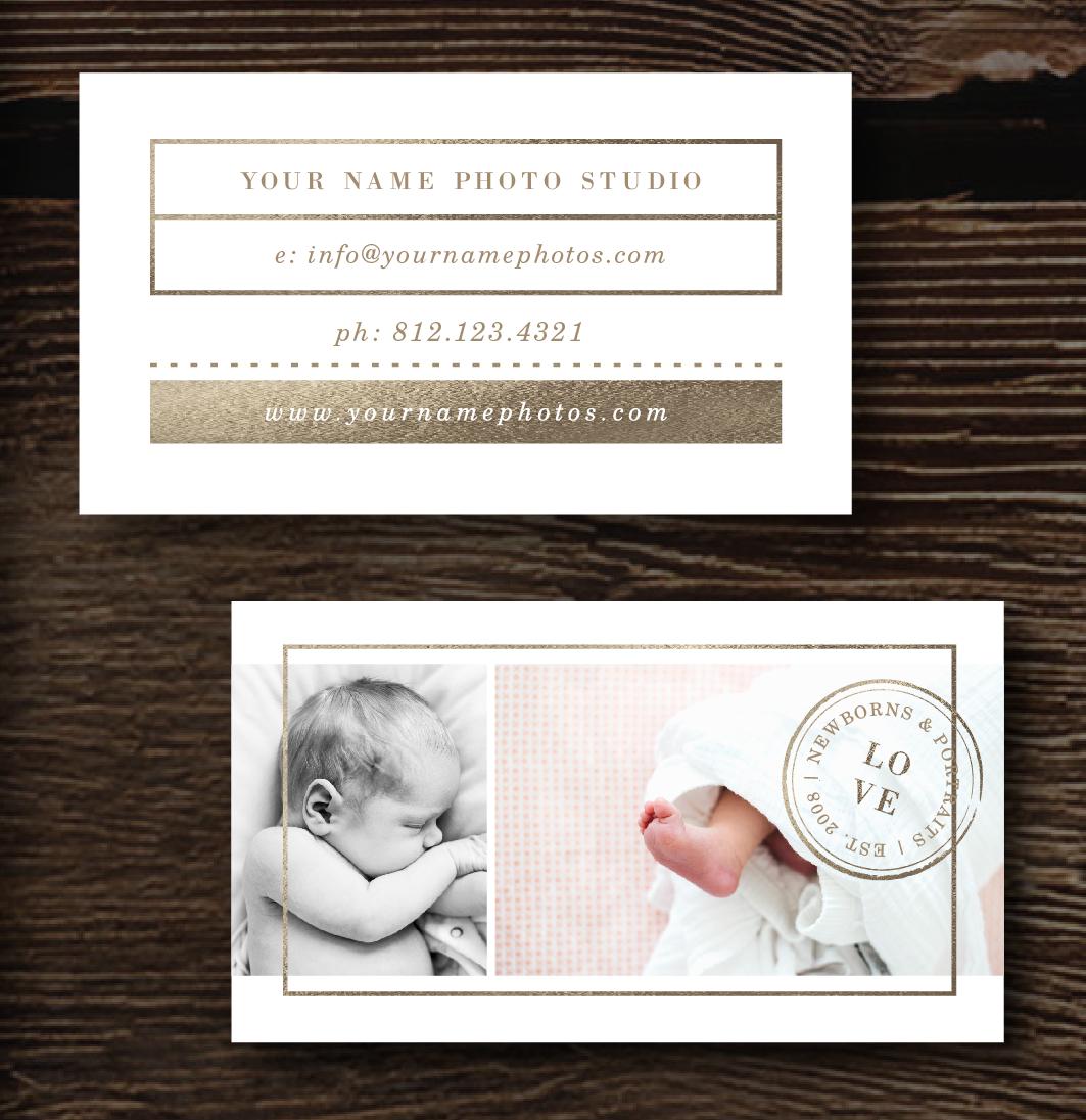 Newborn Photography Business Card Template