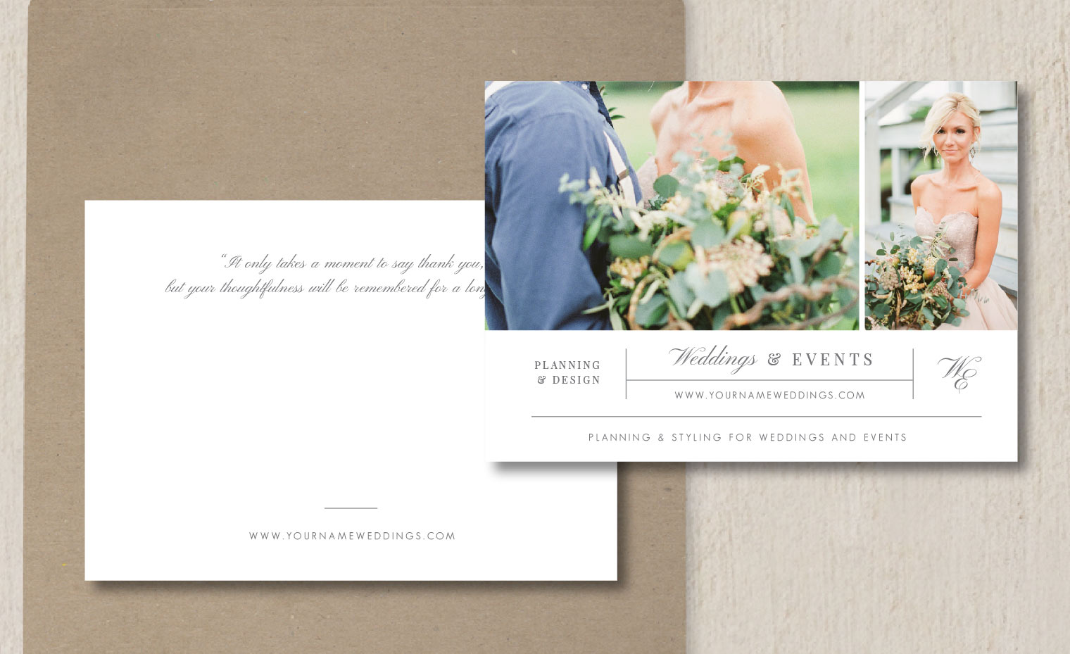 Thank You Card Template Eucalyptus
