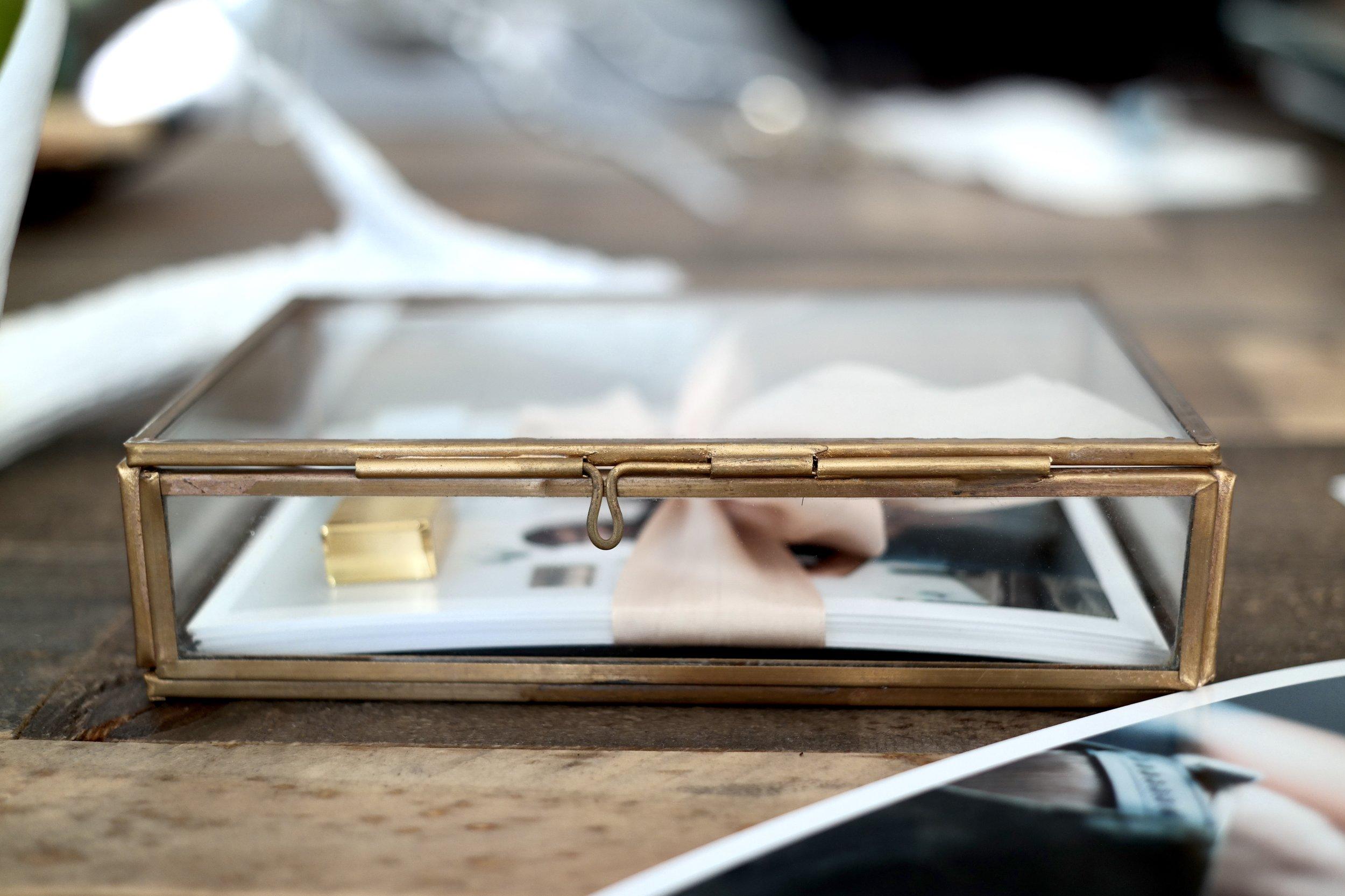 glass box for photos