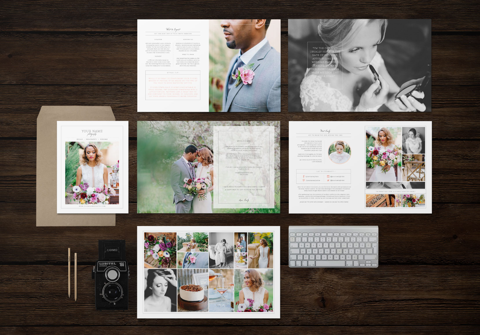 wedding welcome packet for photographers