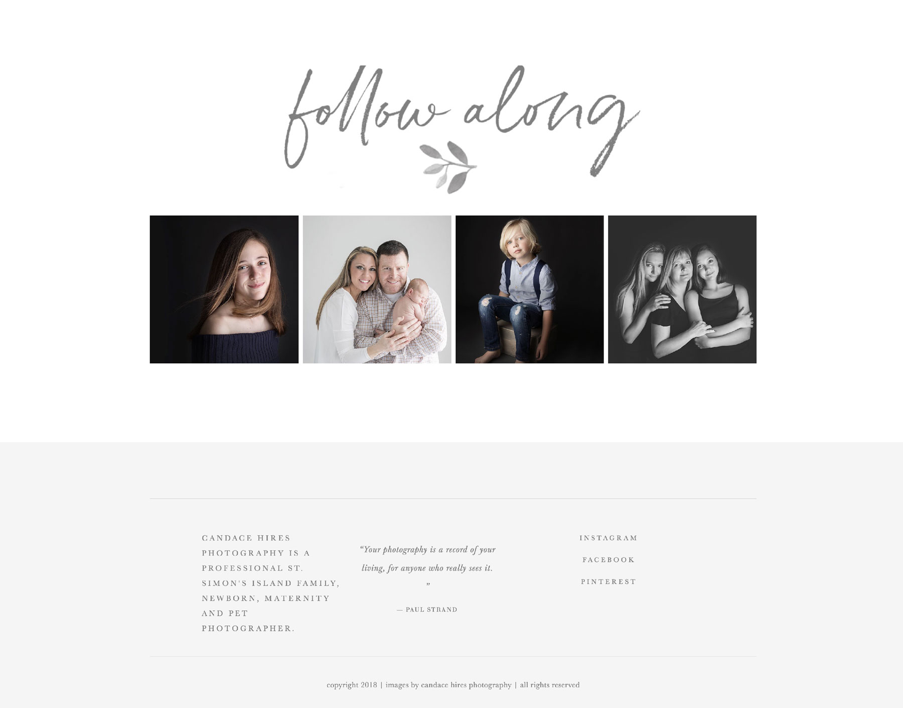 website ideas for photographers | squarespace templates | bittersweet design boutique