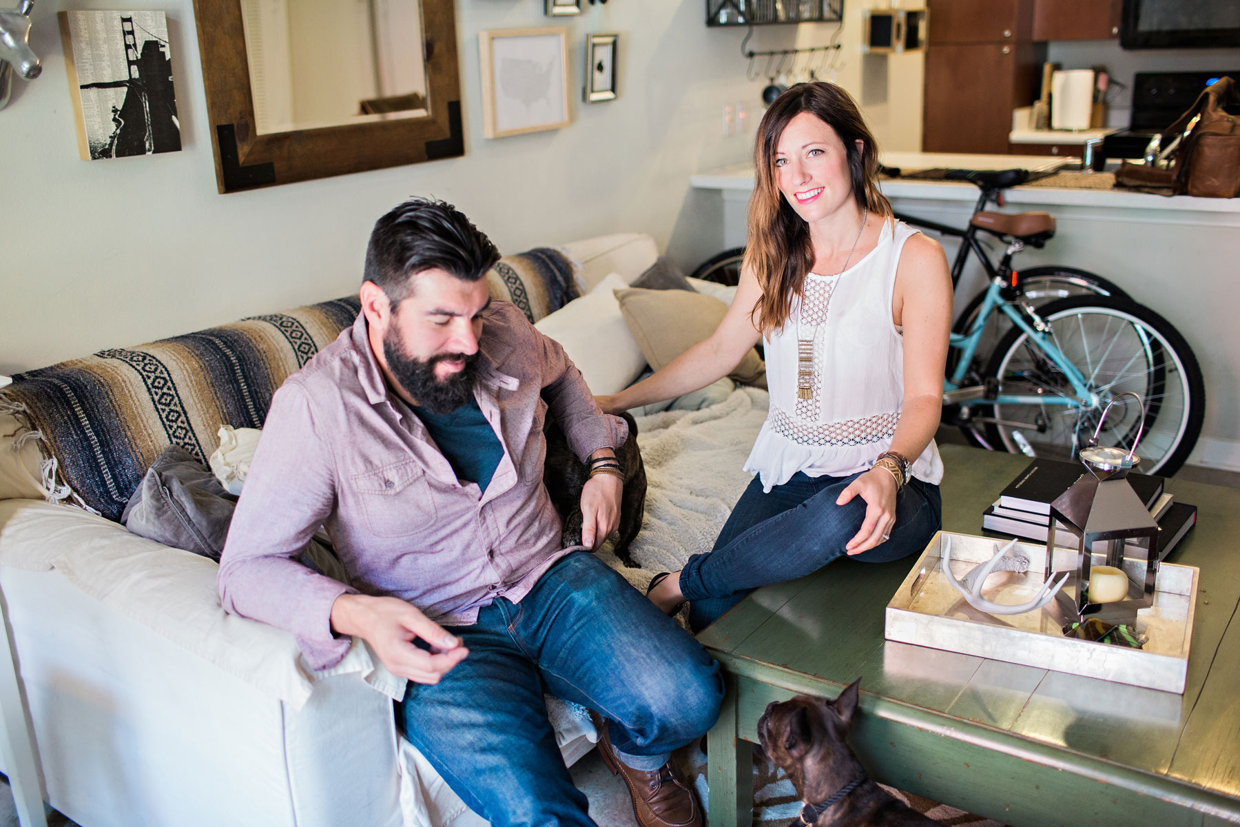 image of us in our 650 sq ft apartment by ali brown photography