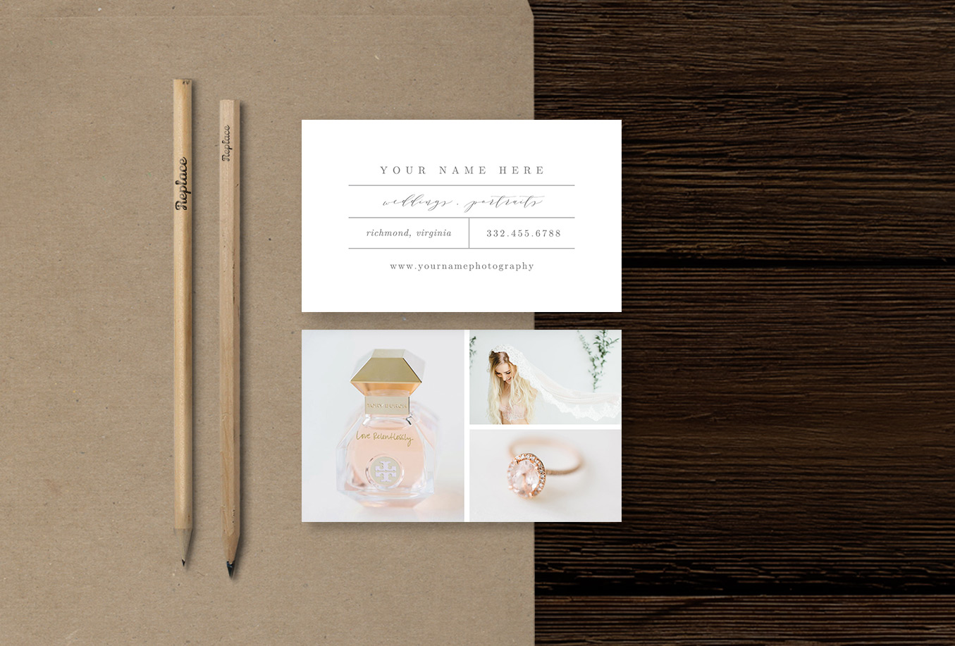 photographer business card inspiration | bittersweet design boutique | wedding photographer marketing templates