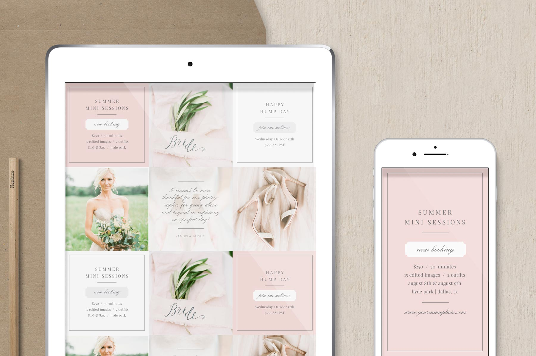 free instagram stories template for photographers & wedding planners | social media templates for free