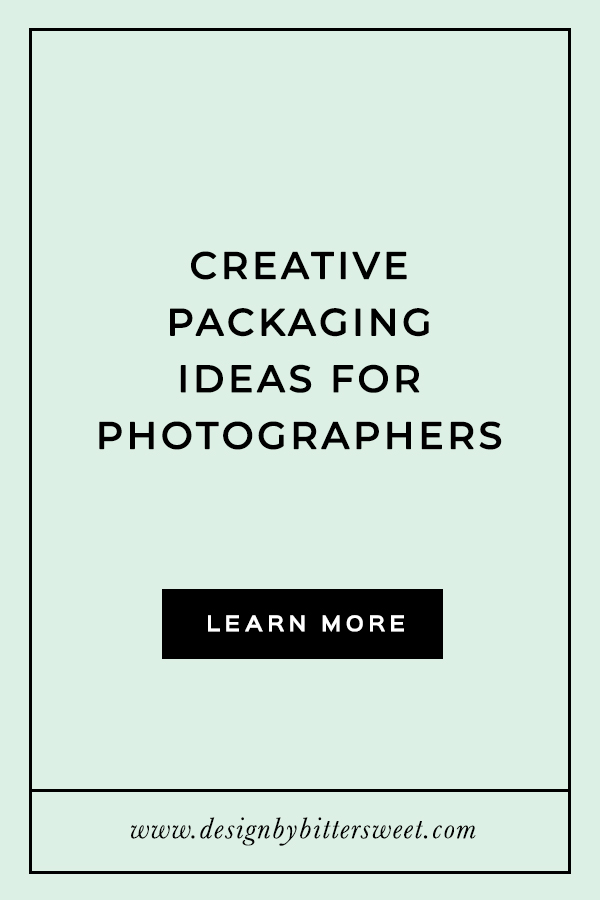 Creative packaging ideas for photographers. Unique packaging design.