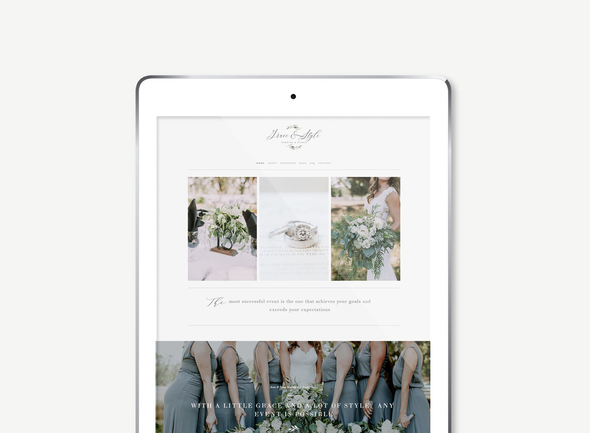 squarespace-website-design-templates for wedding planners