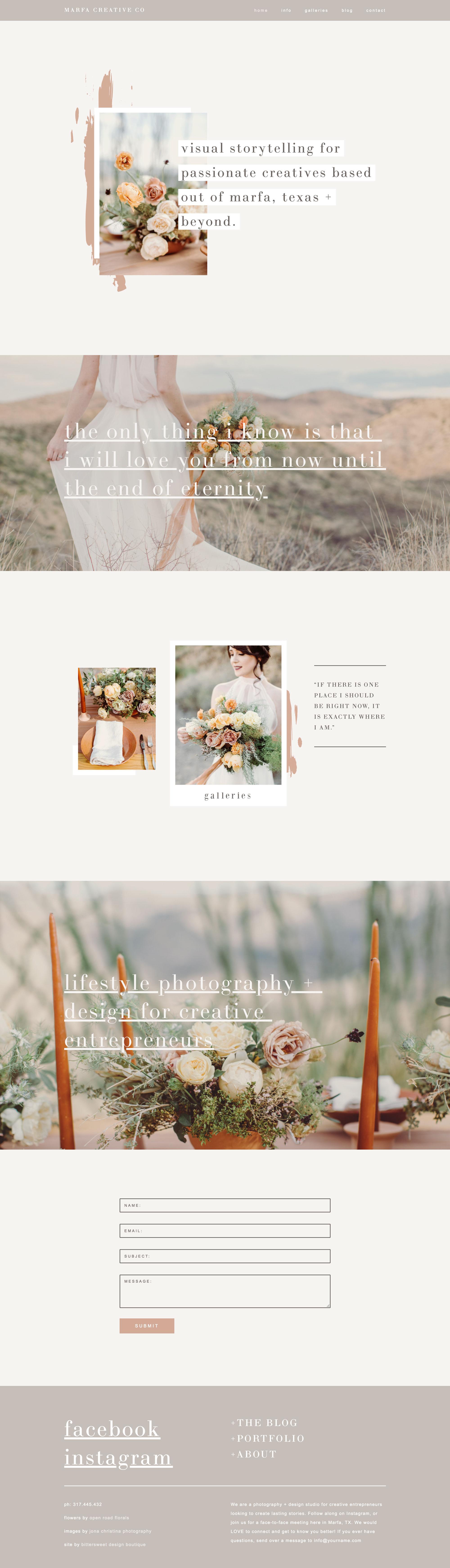 wedding photographer website design ideas | Squarespace website template for photographers