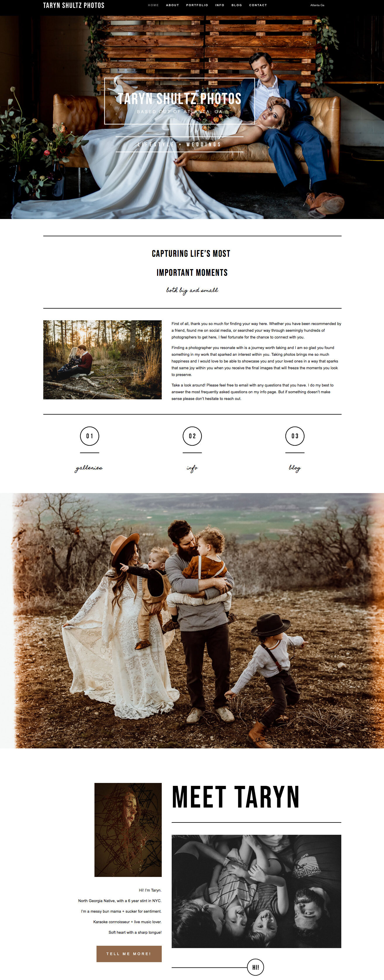 Inspirational Squarespace Design for Photographers