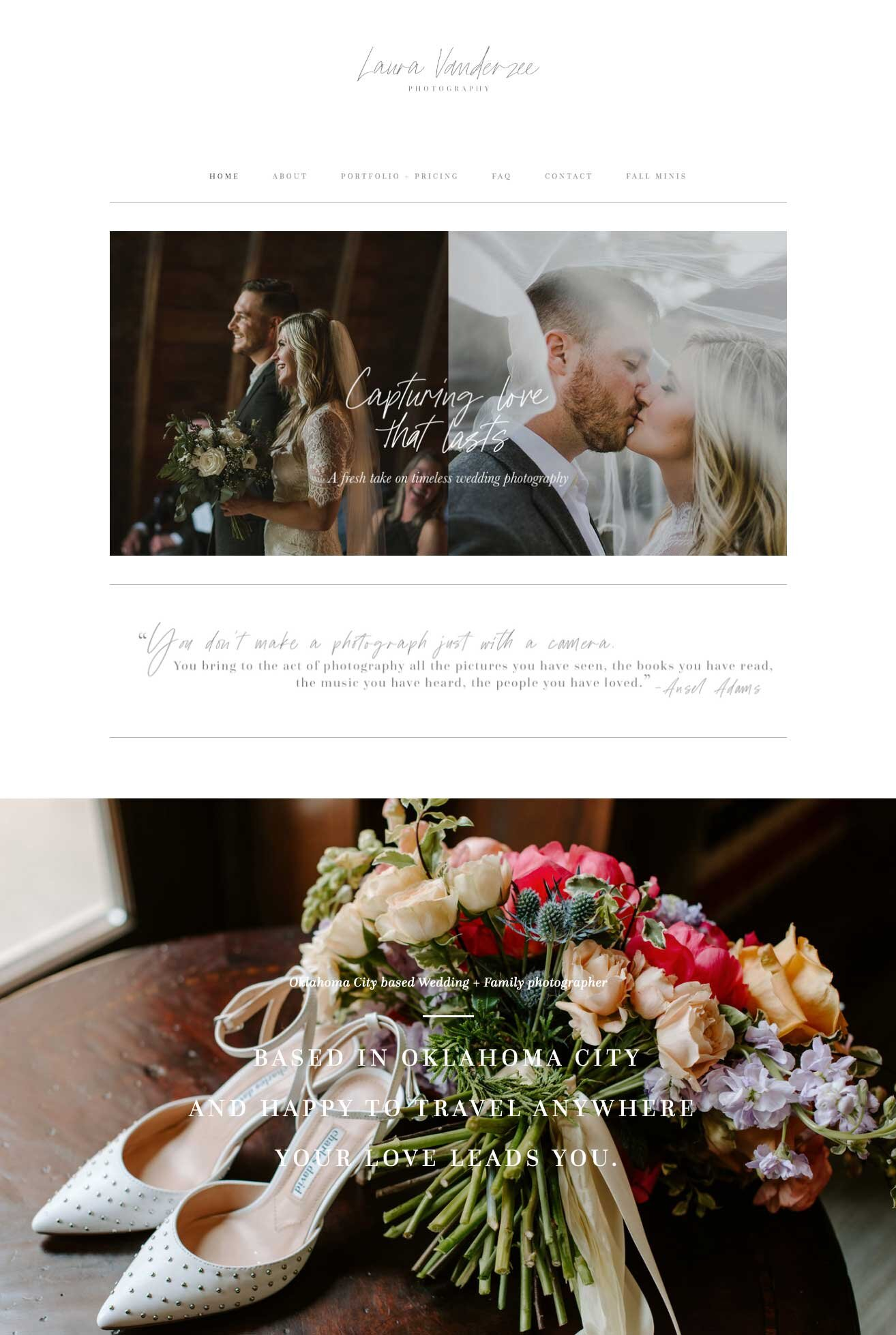 Squarespace Inspirational Website for Photographers.