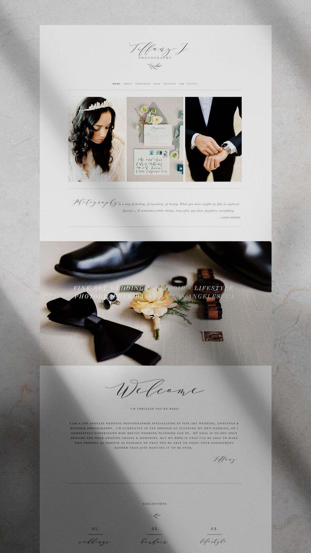 Photographer Squarespace Design: Tiffany Gentry