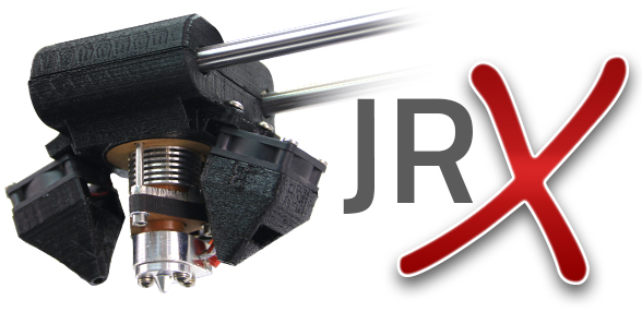 AXIOM's improved JrX hotend reaches temperatures of 315°C (599°F) and is designed to resist troublesome clogs