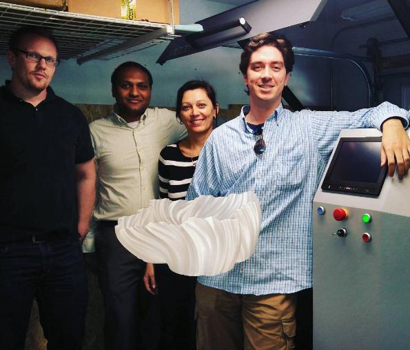 Fusion Engineering Team with 3D Printed Vase in German RepRap X1000 3D Printer