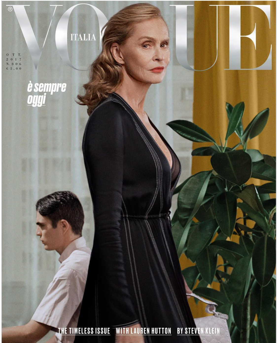 Timeless indeed. Love this cover of Vogue Italia. Fabulous story on Huff Post can be found  here.
