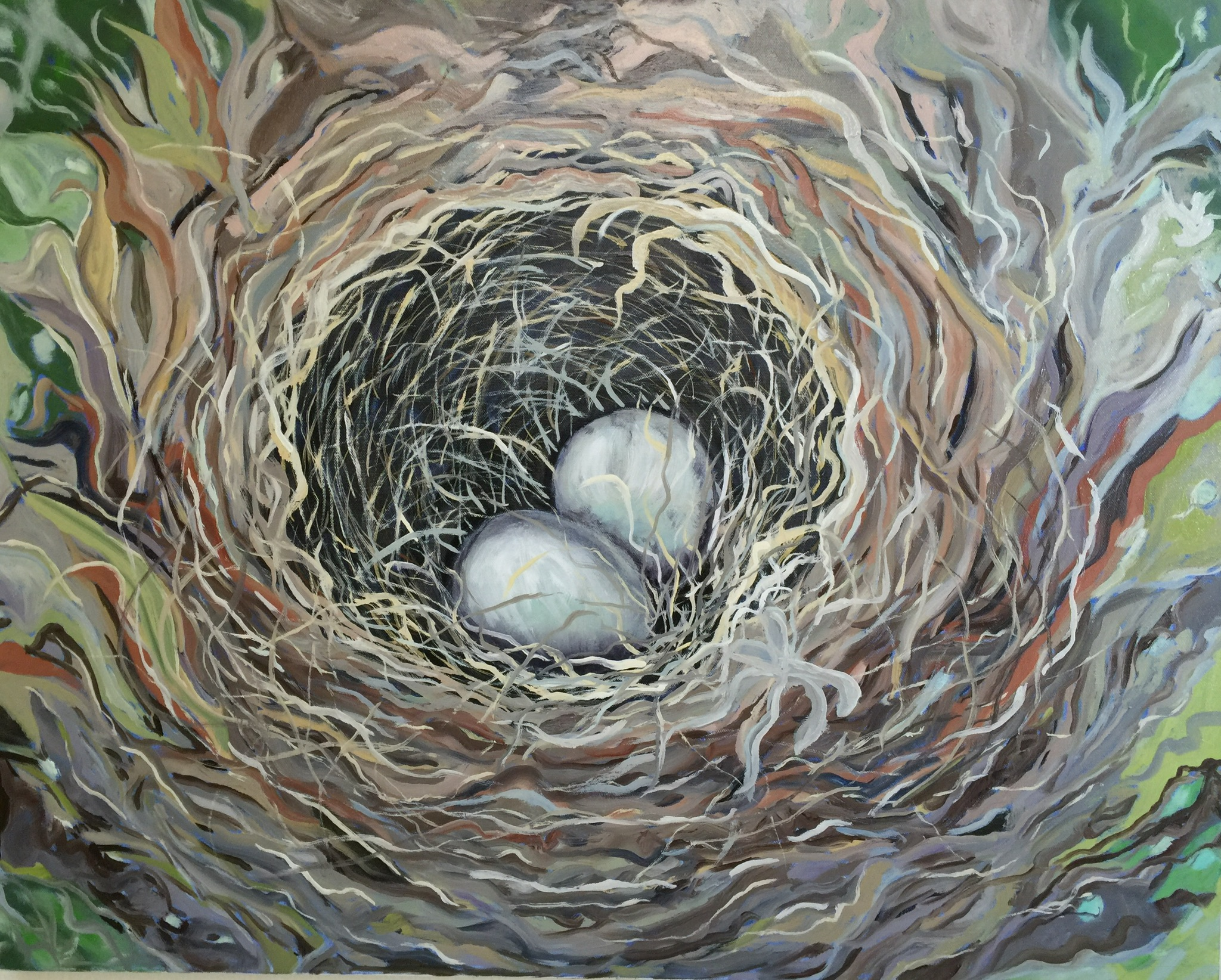 Nest, 48x48, Oil on Canvas.