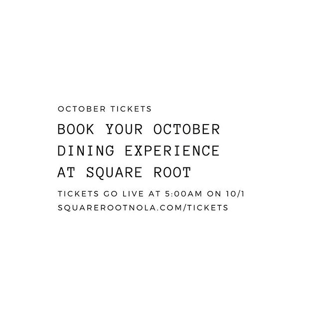 7 courses for $75, 10 for $95 and 15 for $150, every Tuesday-Saturdays Dine with us this October by reserving your dining experience via link in bio. #NOLAeats