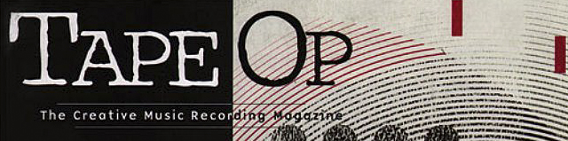 "Masthead for ""Tape Op"" magazine"