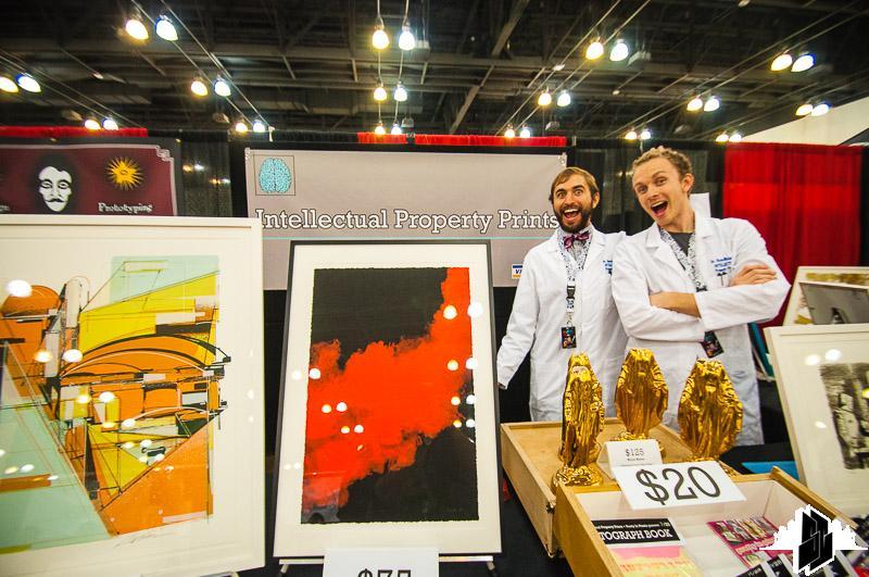 Daniel Rolnik (L) & Ryan McIntosh (R) of Intellectual Property Prints at DesignerCon 2013 - Photo by Smog City LA